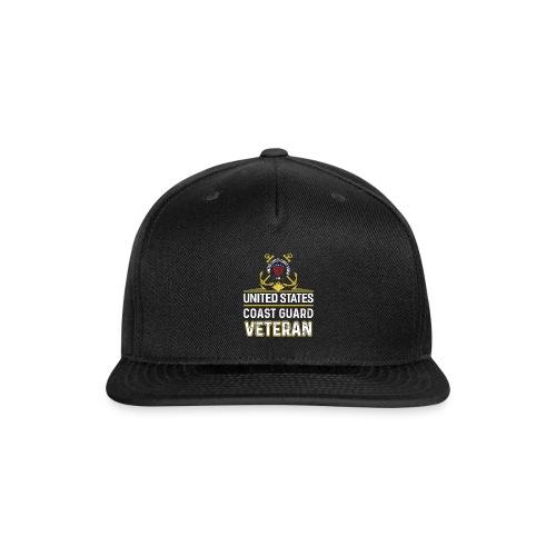 UNITED STATES COAST GUARD VETERAN - Snap-back Baseball Cap