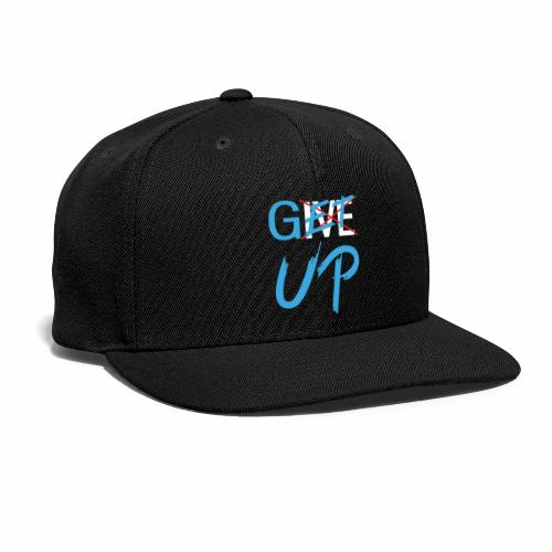 Black White Get UP - Snap-back Baseball Cap