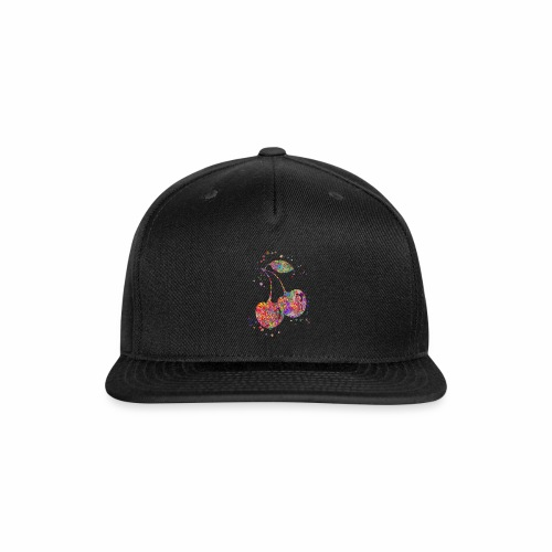 Cherry, watercolor cherry - Snap-back Baseball Cap