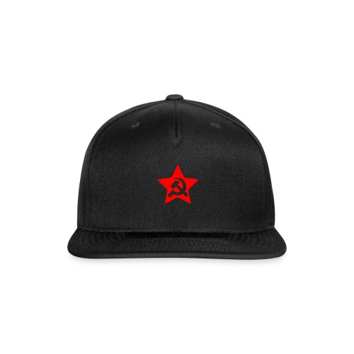 red and white star hammer and sickle - Snap-back Baseball Cap
