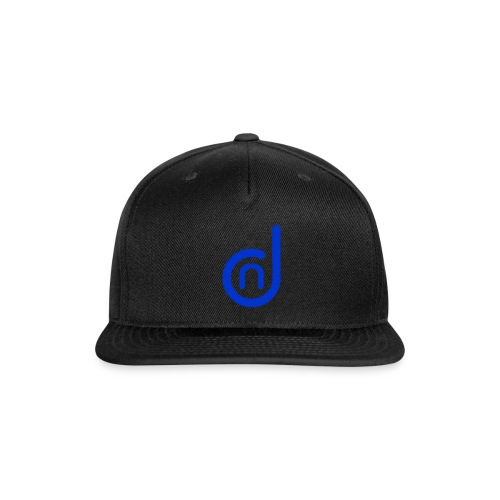 DCN (Direct Cannabis Network Logo -Blue) - Snap-back Baseball Cap