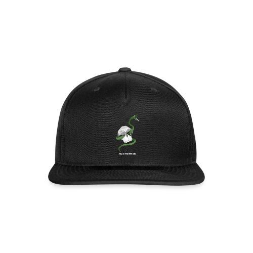 Origami Snake and skull - Snap-back Baseball Cap