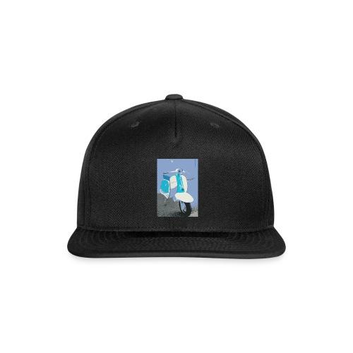 Retro Blue Vespa - Snap-back Baseball Cap