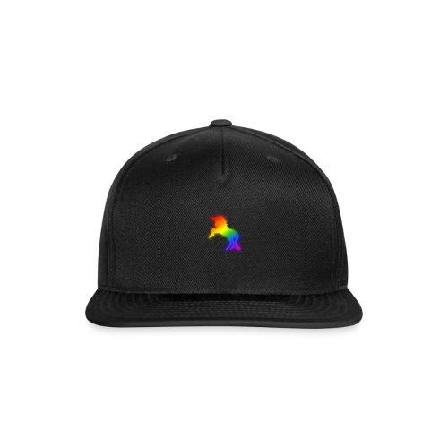 Glowing Rainbow Unicorn Drawing - Snap-back Baseball Cap