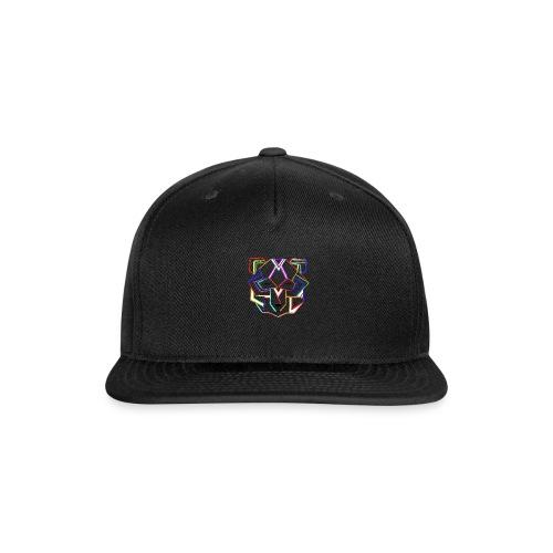 art deco bear face - Snap-back Baseball Cap