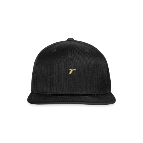 gold tare logo - Snap-back Baseball Cap