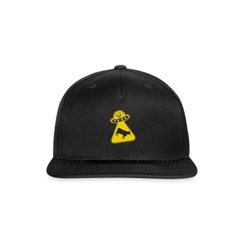 peace ufo ovni cow - Snap-back Baseball Cap