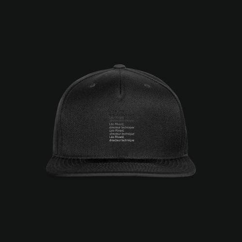 LEO TECHNICAL Rivard - Snap-back Baseball Cap