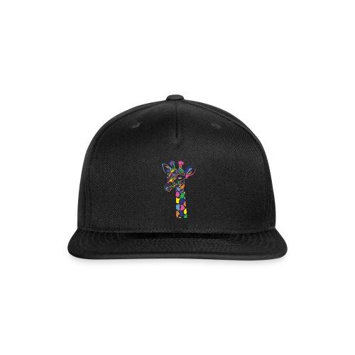 Art Deco giraffe - Snap-back Baseball Cap
