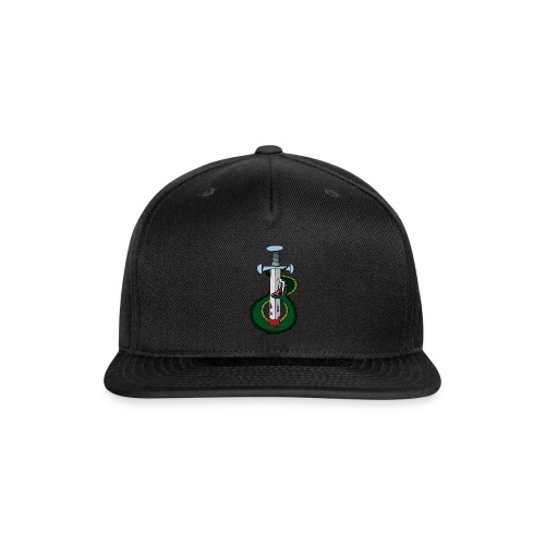 Snake and the sword - Snap-back Baseball Cap