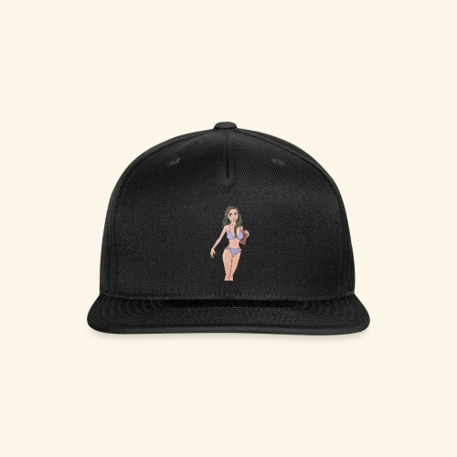 quiet pose 05 girl only crpped - Snap-back Baseball Cap