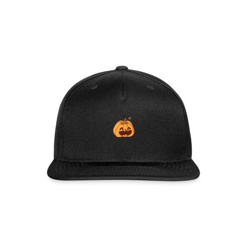 smiley pumpkin - Snap-back Baseball Cap