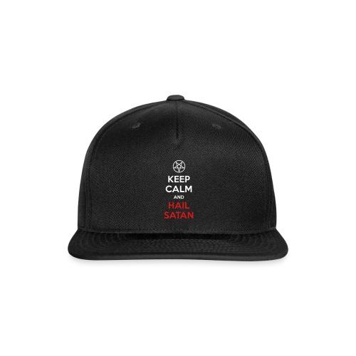Keep Calm and Hail Satan - Snap-back Baseball Cap