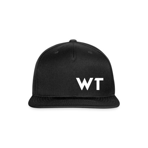 WT Letter Logo - Snapback Baseball Cap