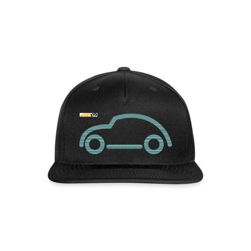 oldimer silhouette green - Snap-back Baseball Cap
