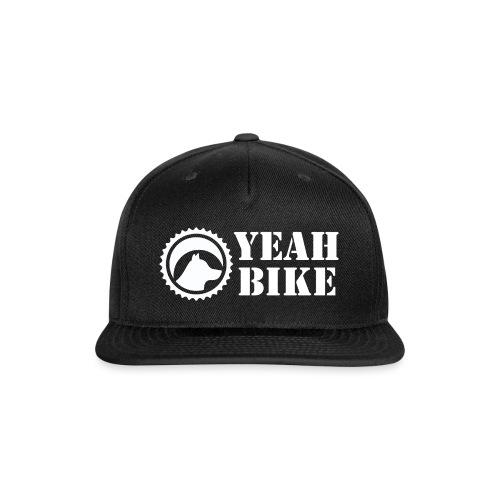 Yeah Bike white - Snap-back Baseball Cap