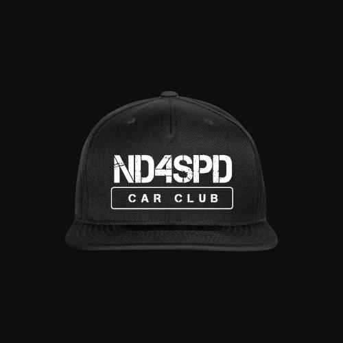 ND4SPD Logo 3.0 - White - Snap-back Baseball Cap