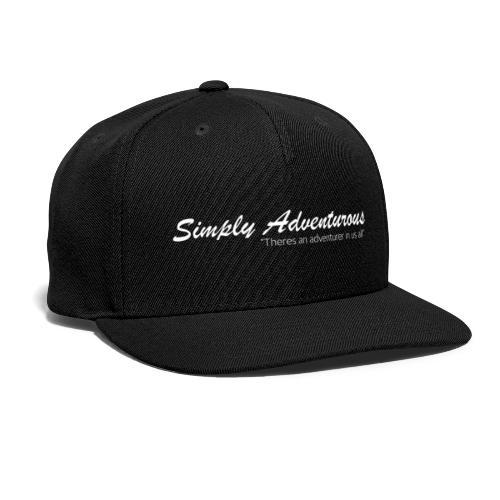 Simply Adventurous WHITE Design - Snap-back Baseball Cap