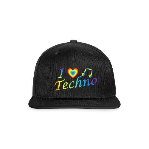 I LOVETECHNO MUSIC - Snap-back Baseball Cap