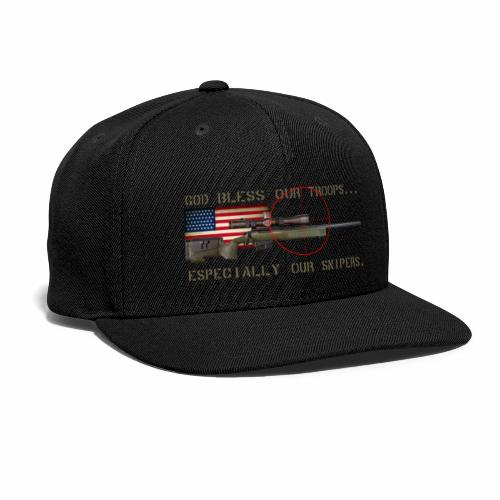 God Bless Our Snipers - Snap-back Baseball Cap
