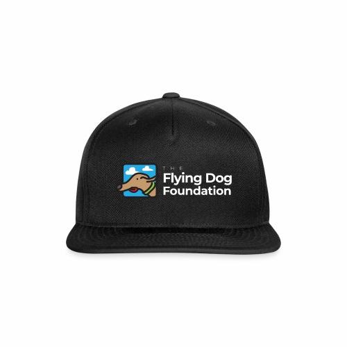 The Flying Dog Foundation Logo - White Font - Snapback Baseball Cap