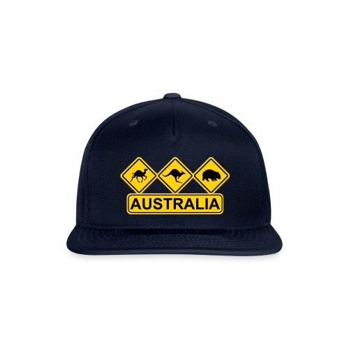 Australian 3 Animal Street Sign - Snapback Baseball Cap