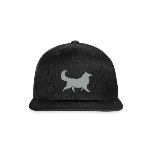 Collie silhouette small - Snapback Baseball Cap