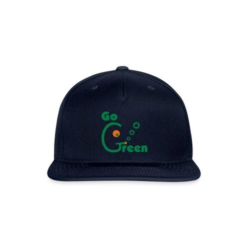 Go Green - Snap-back Baseball Cap