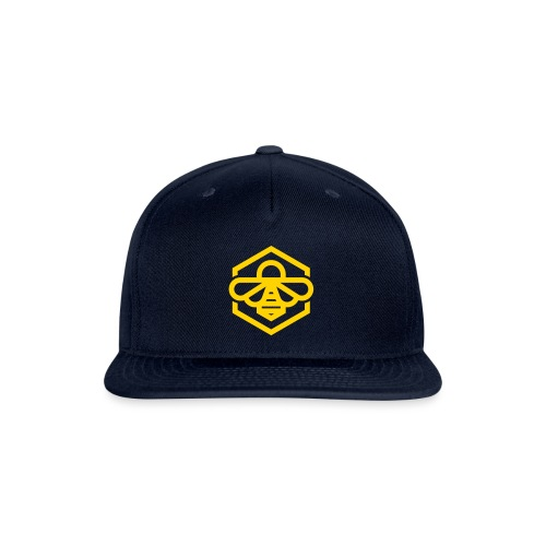 bee symbol orange - Snap-back Baseball Cap