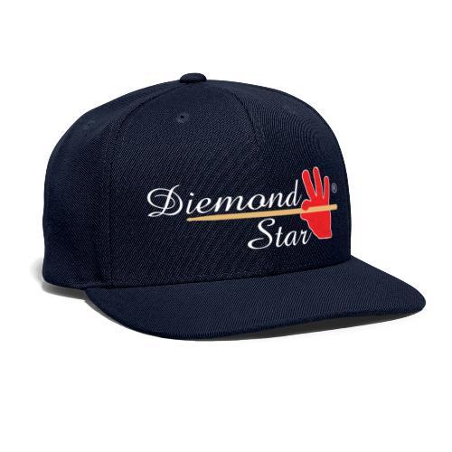 Diemond Star Logo White Font - Snapback Baseball Cap