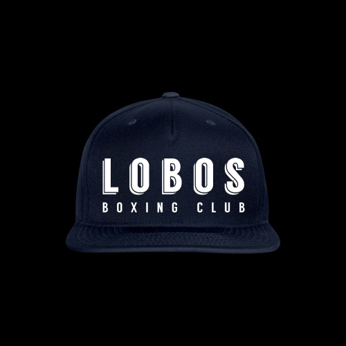 Lobo s Text no apostrophe WHITE - Snap-back Baseball Cap