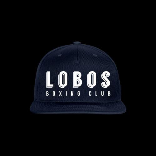 Lobo s Text no apostrophe WHITE - Snapback Baseball Cap