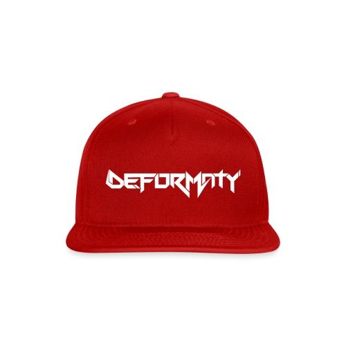 Deformaty logo hat - Snap-back Baseball Cap