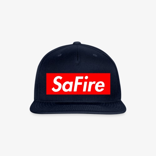 SaFire box logo tee - Snap-back Baseball Cap