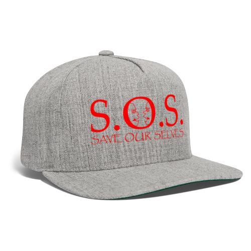 sos red - Snapback Baseball Cap