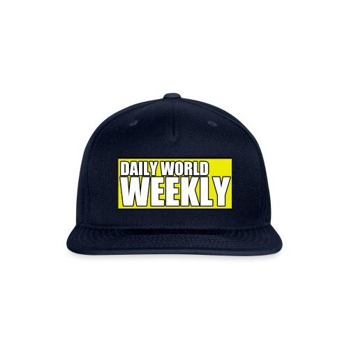 daily world weekly banner short - Snap-back Baseball Cap