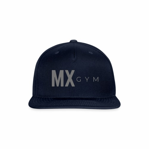MX Gym Minimal Long Grey - Snapback Baseball Cap