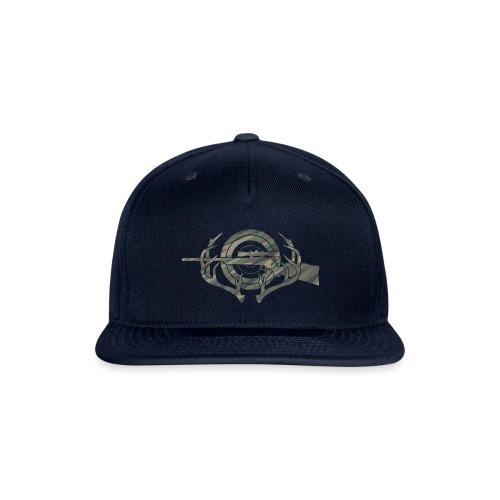 Camouflage Hunting and Shooting Sports Logo - Snapback Baseball Cap
