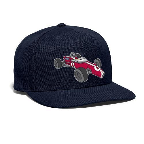 Red racing car, racecar, sportscar - Snapback Baseball Cap