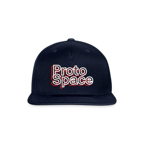 20191217 Proto Outline OnBlack - Snapback Baseball Cap