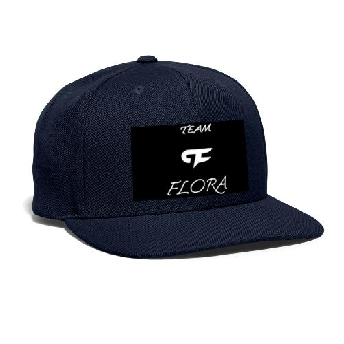 TEAM FLORA BLACKOUT LOGO - Snapback Baseball Cap