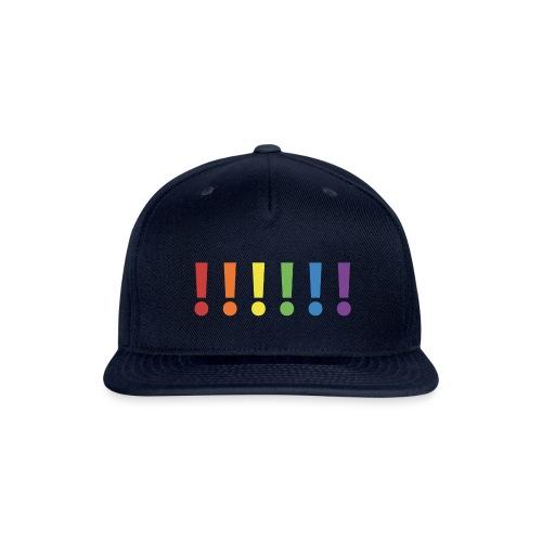 Pride Rainbow Exclamation Marks - Snapback Baseball Cap