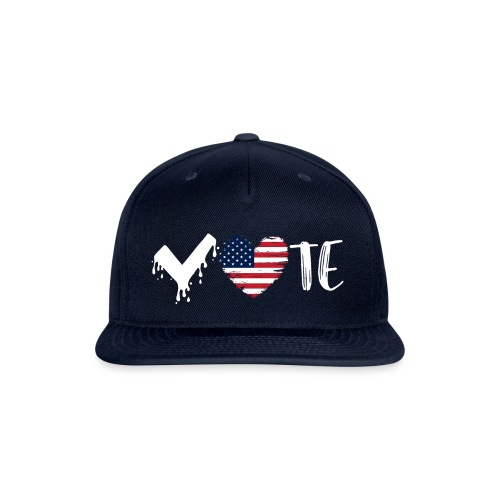 Vote Heart - Snap-back Baseball Cap