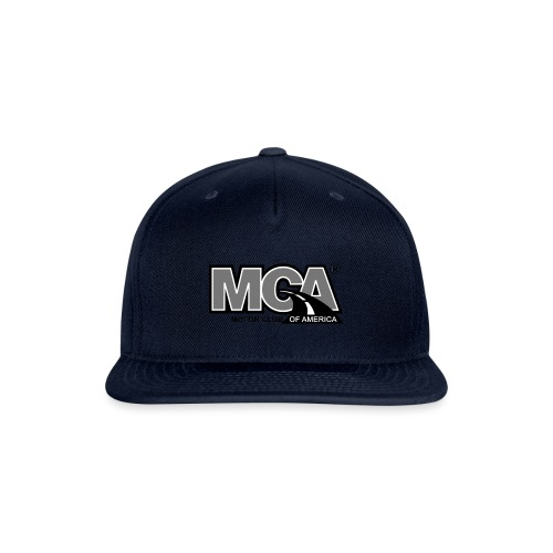 MCA Logo WBG Transparent BLACK WHITE TITLEfw fw pn - Snap-back Baseball Cap