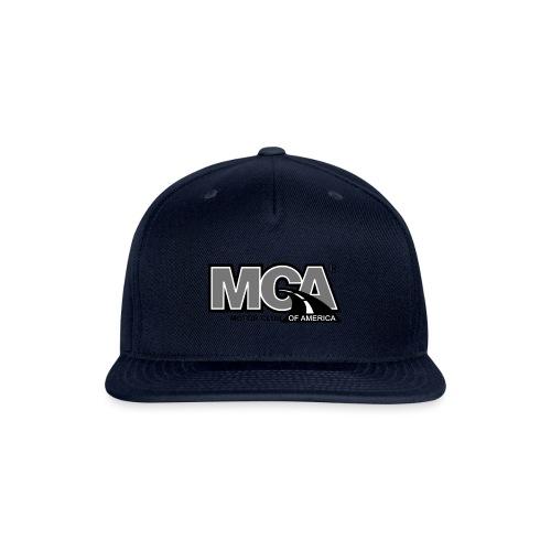 MCA Logo WBG Transparent BLACK WHITE TITLEfw fw pn - Snapback Baseball Cap