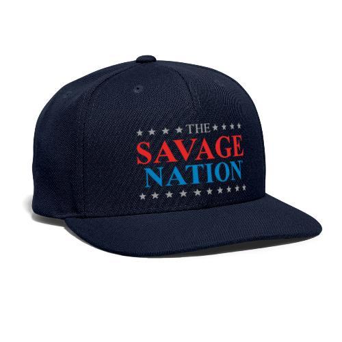 The Savage Nation Logo - Snapback Baseball Cap