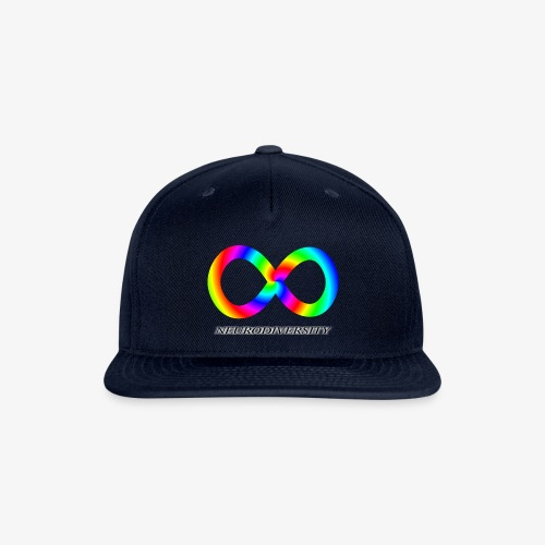 Neurodiversity with Rainbow swirl - Snap-back Baseball Cap