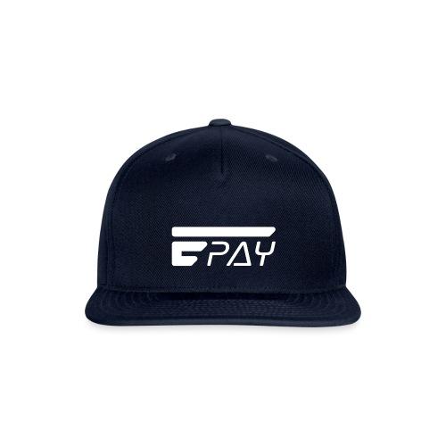 EUNOPAY LOGO WHITE - Snap-back Baseball Cap