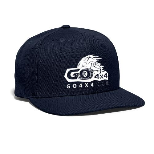 go bw white text - Snapback Baseball Cap