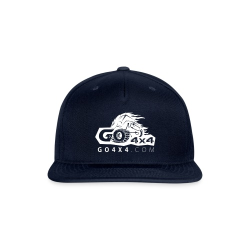 go bw white text - Snap-back Baseball Cap